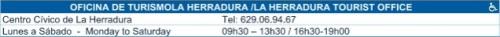 Horarios de la Oficina de Turismo de La Herradura (Almuñécar)