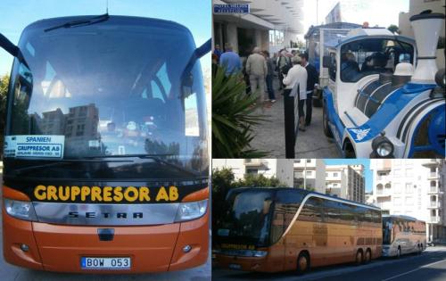 Un centenar de suecos viajan en autobús desde Estocolmo y Malmoe a Almuñécar