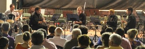 La Banda de Música de Almuñécar interpretó en La Plaza Nueva