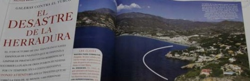 La revista La Aventura de la Historia publica un reportaje del Naufragio de la Armada en La Herradura