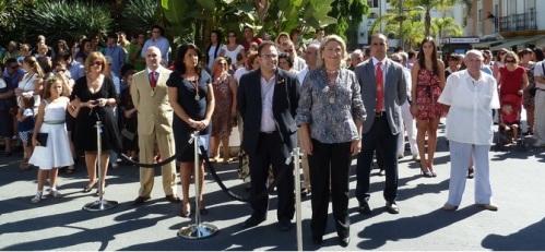 Homenaje e izado de la bandera española en el Día de la Hispanidad