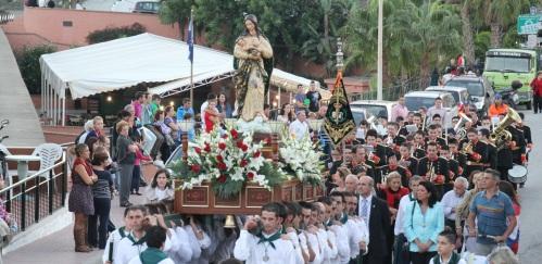 Procesión Virgen Madre en Torrecuevas