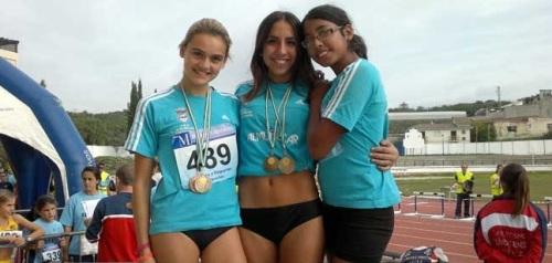 Gran actuación de las atletas sexitanas en el Circuito Provincial de Málaga