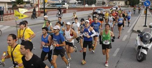 J.Jerónimo, Moreno, Labrador y Alonso, participaron en la Maratón de Málaga