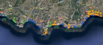 Mapa playas Almuñécar