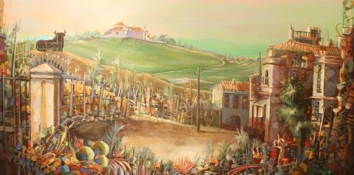 Exposición de pintura de Moreno-Mata en La Italiana Café