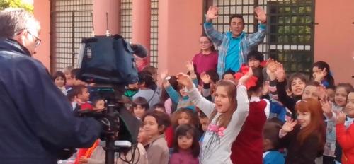 El programa infantil La Banda de Canal Sur graba en Almuñécar