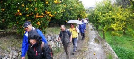 Senderistas sexitanos recorrieron la comarca del Valle de Lecrín
