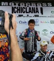 El piloto alevín Yeray Díaz lidera el Campeonato Andalucía de Motocross
