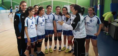 Las infantiles de balonmano campeonas de Andalucía