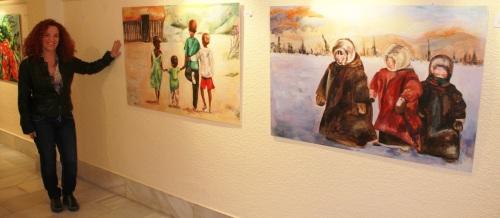 Araceli Delgado Morán presenta su primera exposición de pintura 2