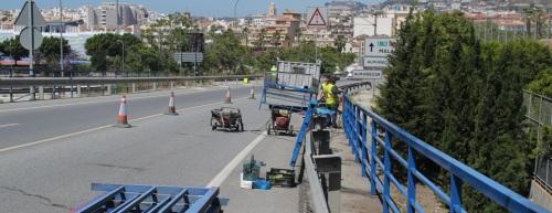 Carreteras realiza diversas mejoras en la CN 340 a su paso por el municipio sexitano