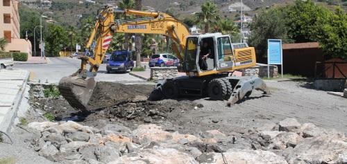 El Ayuntamiento de Almuñécar rehabilita la desembocadura de la Rambla Caballero