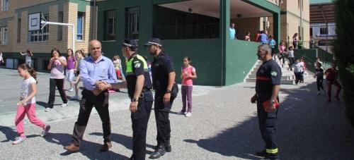 El Colegio Público Virgen de la Antigua realiza un simulacro de evacuación