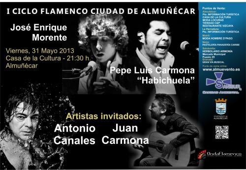 """Pepe Luis y Juan Carmona, Antonio Canales y Morente clausuran este viernes el I Ciclo Flamenco """"Ciudad de Almuñécar"""" 2"""