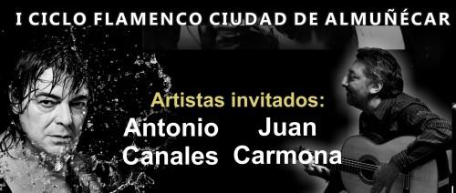 """Pepe Luis y Juan Carmona, Antonio Canales y Morente clausuran este viernes el I Ciclo Flamenco """"Ciudad de Almuñécar"""""""