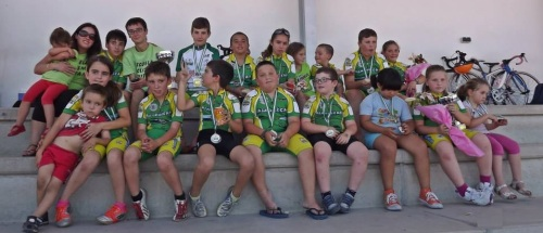 La Escuela de Ciclismo Sexitana logra media docena de podios en el Campeonato de Andalucía de escuelas celebrados en Santa Fe