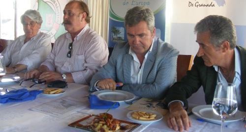 Alfredo Amestoy, Pablo Amate, José Garcia Fuentes y Pepe Katena durante la celebración del concurso