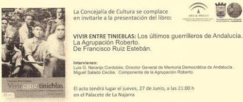 """Luis Naranjo interviene en la presentación del libro """"Vivir entre tinieblas: los últimos guerrillero de Andalucía"""" de Francisco Ruíz Esteban"""