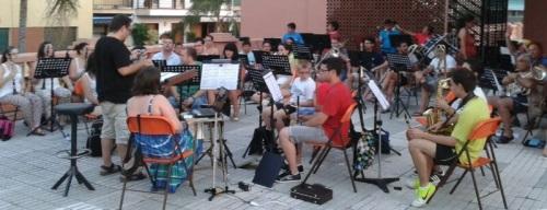 La BMM de Almuñécar ensayando para los concierto del 28 y 29 de julio