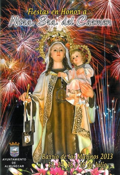 Cartel fiestas de la Virgen del Carmen del barrio de Los Marinos 2013