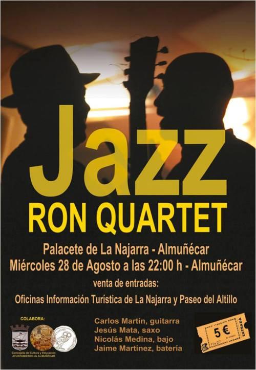 La banda de jazz RON QUARTET actuará en el Palacete de La Najarra