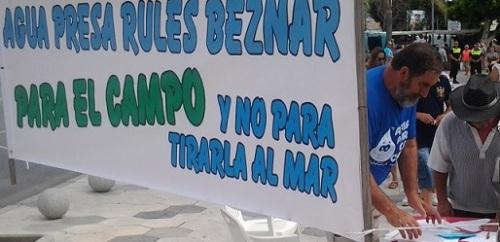 Agricultores de la Costa Tropical reivindican la canalizaciones de la presa de Rules