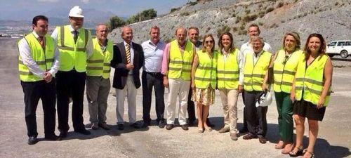 La ministra de Fomento visita las obras de la A-7 en Taramay