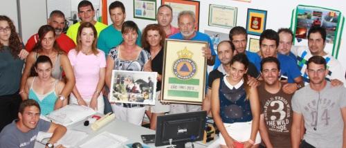 Los voluntarios de Protección Civil de Almuñécar rinden homenaje al jefe Local de la Agrupación, Cecilio Fajardo