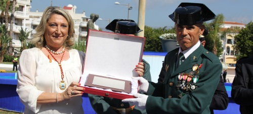 Almuñécar rindió homenaje al Guardia Civil sexitano Juan Castillo Peralta