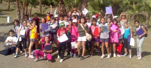 Alumnos del CP Virgen de la Antigua conocieron  la flora de los parques sexitanos