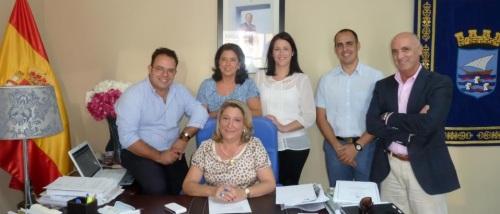 Equipo de gobierno del Partido Popular en el Ayuntamiento de Almuñécar