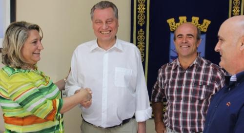La alcaldesa de Almuñécar recibe al presidente de la PYME de Baviera