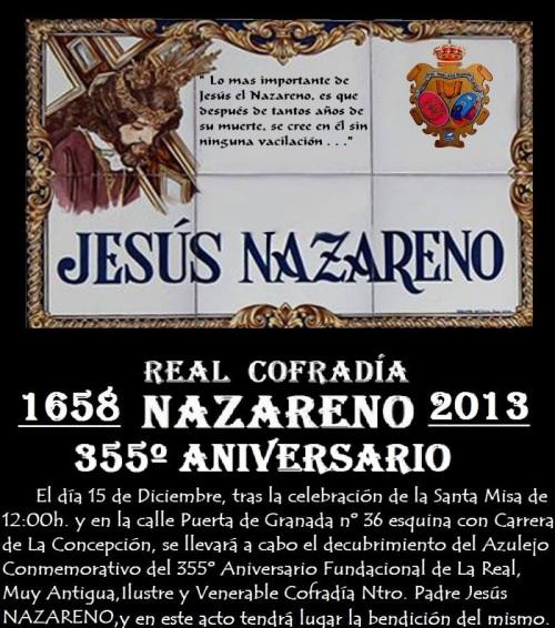 355º Aniversario Fundacional de la Cofradía Ntro. Padre Jesús NAZARENO