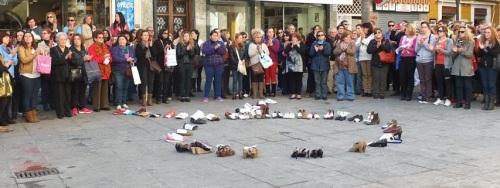 Concentración en recuerdo de las mujeres asesinadas por sus parejas