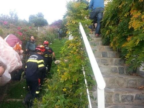 Herido un parapentista tras chocar contra una casa en la Punta de la Mona 2