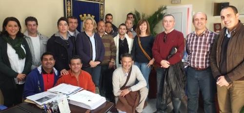 La alcaldesa de Almuñécar ha recibido a un grupo de presos que visita hoy la localidad sexitana