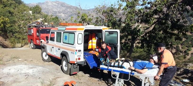 Rescatado en la zona de Gelibra un parapentista alemán herido en una pierna