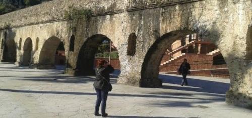 Técnicos evalúan los daños en el acueducto romano de Torrecuevas