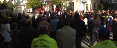 Minuto de silencio por el empleado municipal José Matías Rivas