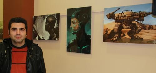 Primera exposición de Nur Zaragoza en la Casa de la Juventud
