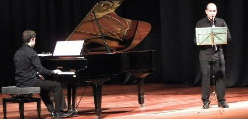Carlos Gil y Ángel Jábega ofrecieron un excepcional recital del clarinete y piano