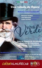 Cartel del espectáculo operístico Viva Verdi