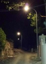Los vecinos del Camino del Berenguel disfrutan ya de iluminación