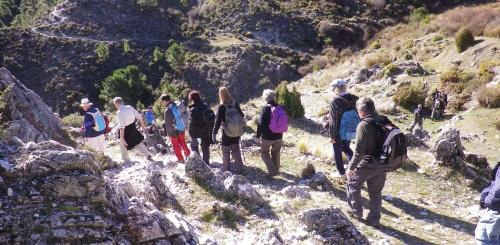 Senderistas recorrieron la zona norte de la Sierra de Almijara y Tejeda
