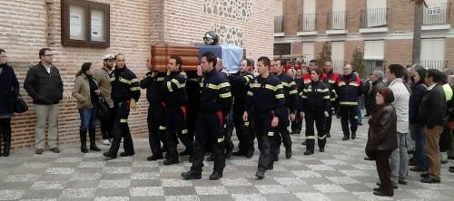 Emotivo funeral el celebrado por el bombero Antonio Ramila Azpiazu