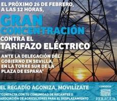 Concentración contra el tarifazo eléctrico