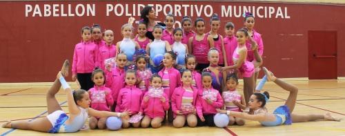 Una treintena de gimnastas sexitanas participaron en la II Exhibición de Primavera de Gimnasia Rítmica de Torrox