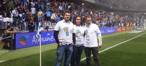 Almuñécar protagonista en el estadio de La Rosaleda en el Málaga - Real Madrid