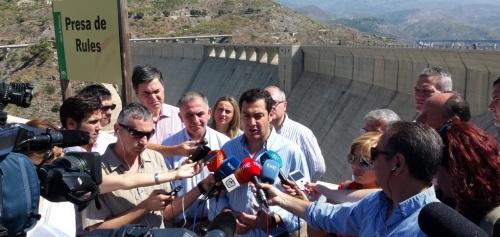 Juanma Moreno insta a la Junta a terminar las conducciones de Rules